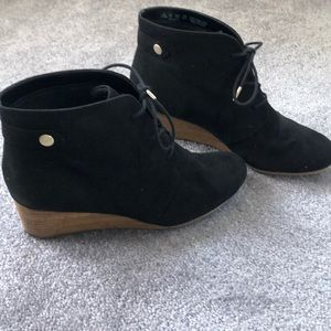 Dr. scholl's black wedge bootie